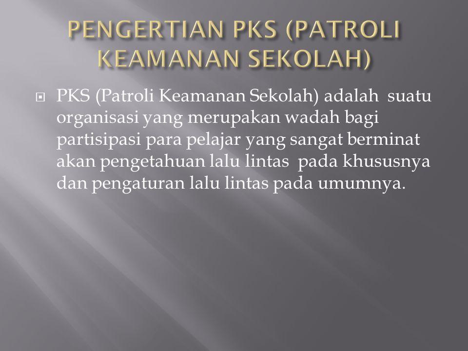 PENGERTIAN PKS (PATROLI KEAMANAN SEKOLAH)