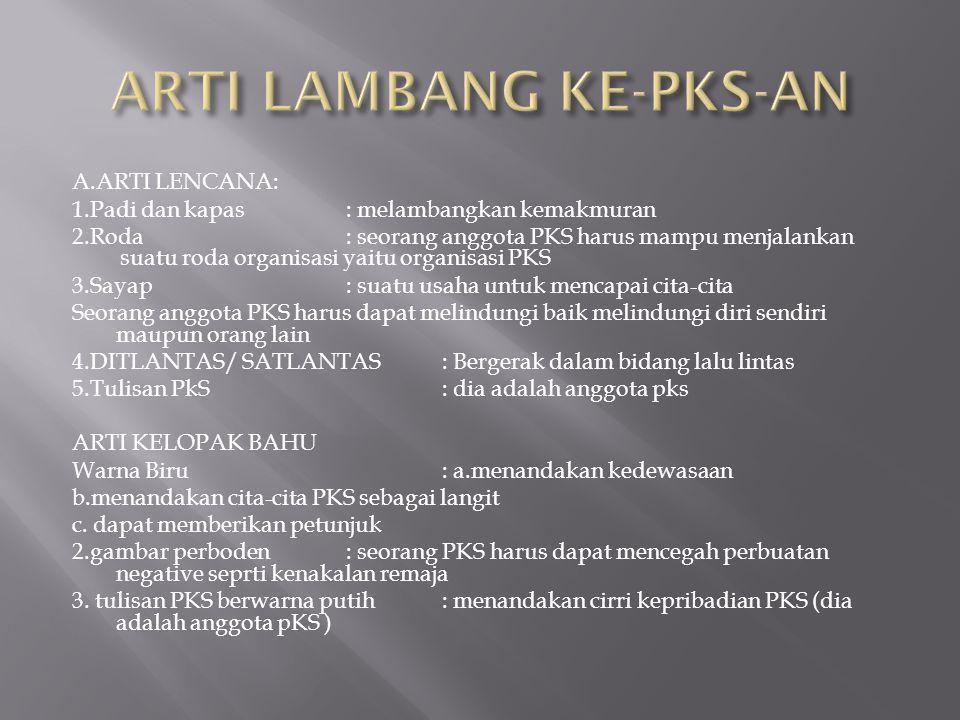ARTI LAMBANG KE-PKS-AN