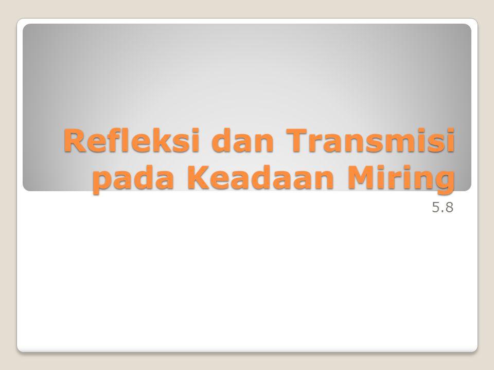 Refleksi dan Transmisi pada Keadaan Miring