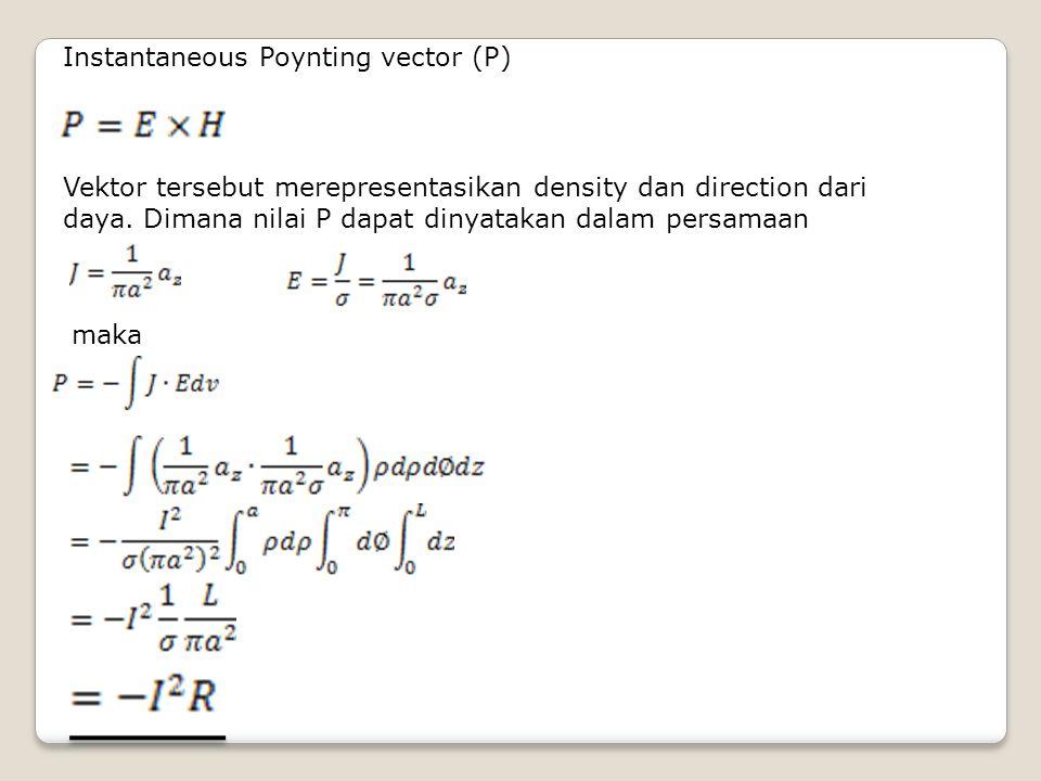 Instantaneous Poynting vector (P)