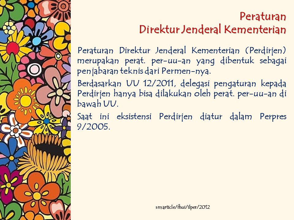 Peraturan Direktur Jenderal Kementerian