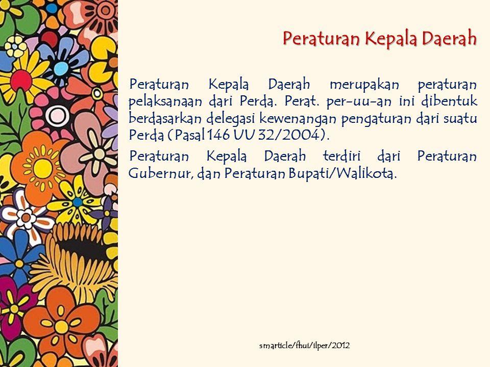 Peraturan Kepala Daerah