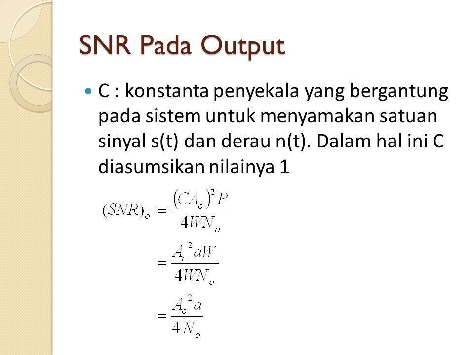 SNR Pada Output