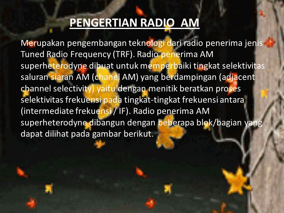 PENGERTIAN RADIO AM