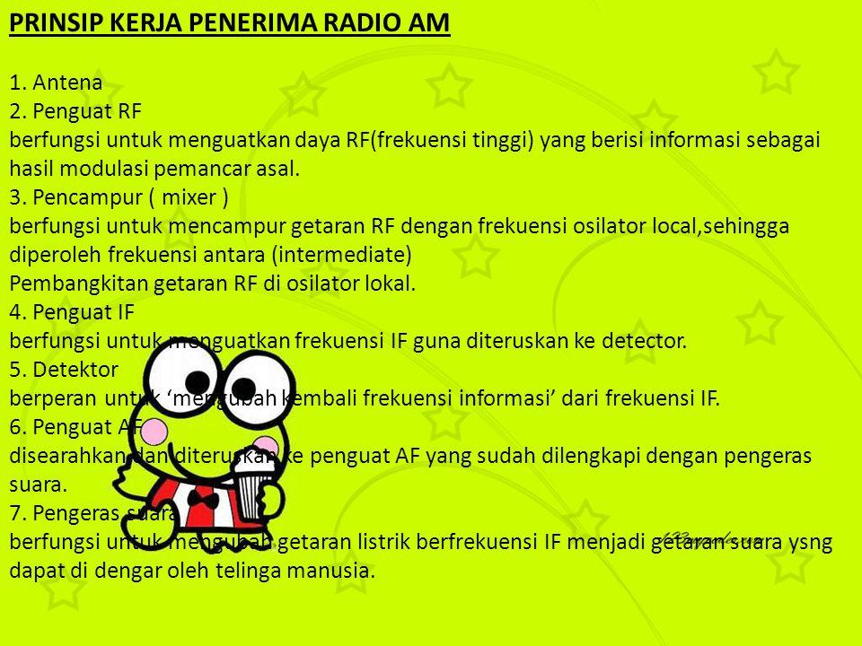 PRINSIP KERJA PENERIMA RADIO AM
