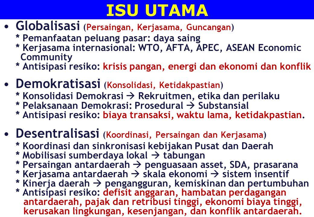 ISU UTAMA Globalisasi (Persaingan, Kerjasama, Guncangan)