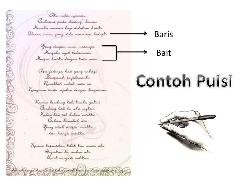 Baris Bait Contoh Puisi