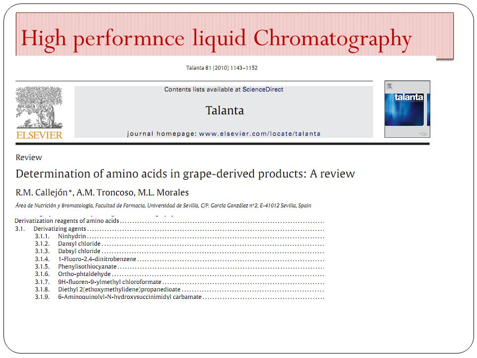 High performnce liquid Chromatography