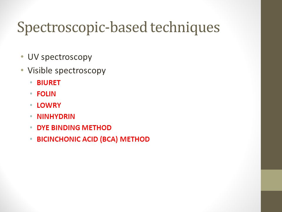Spectroscopic-based techniques