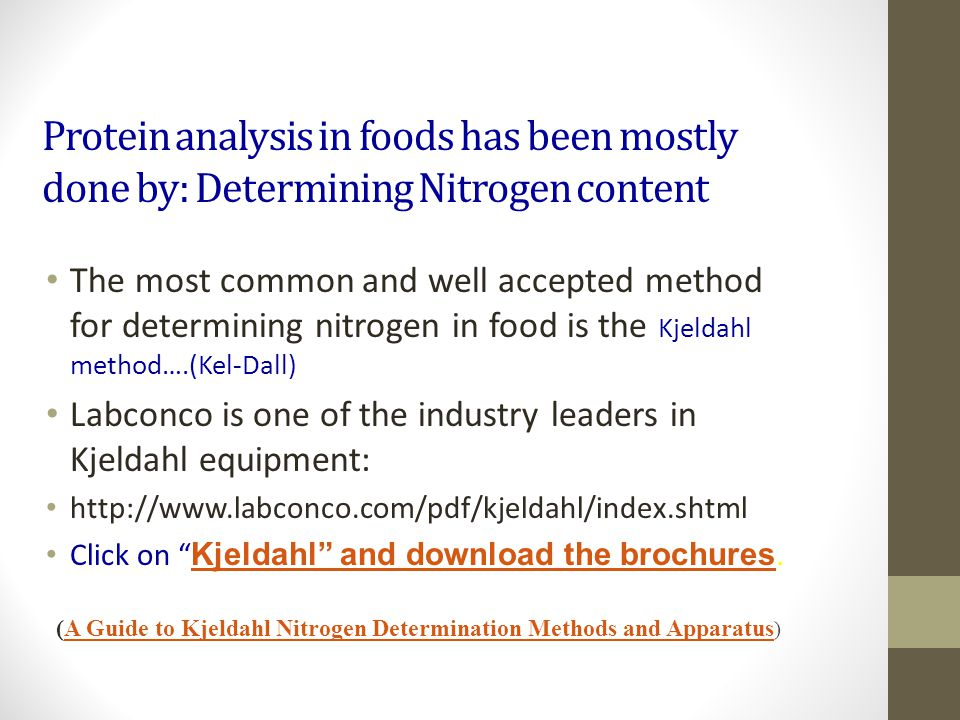 (A Guide to Kjeldahl Nitrogen Determination Methods and Apparatus)