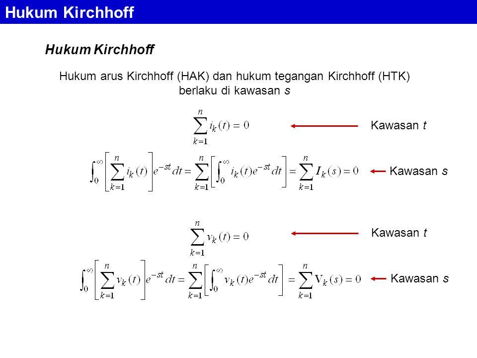 Hukum Kirchhoff Hukum Kirchhoff