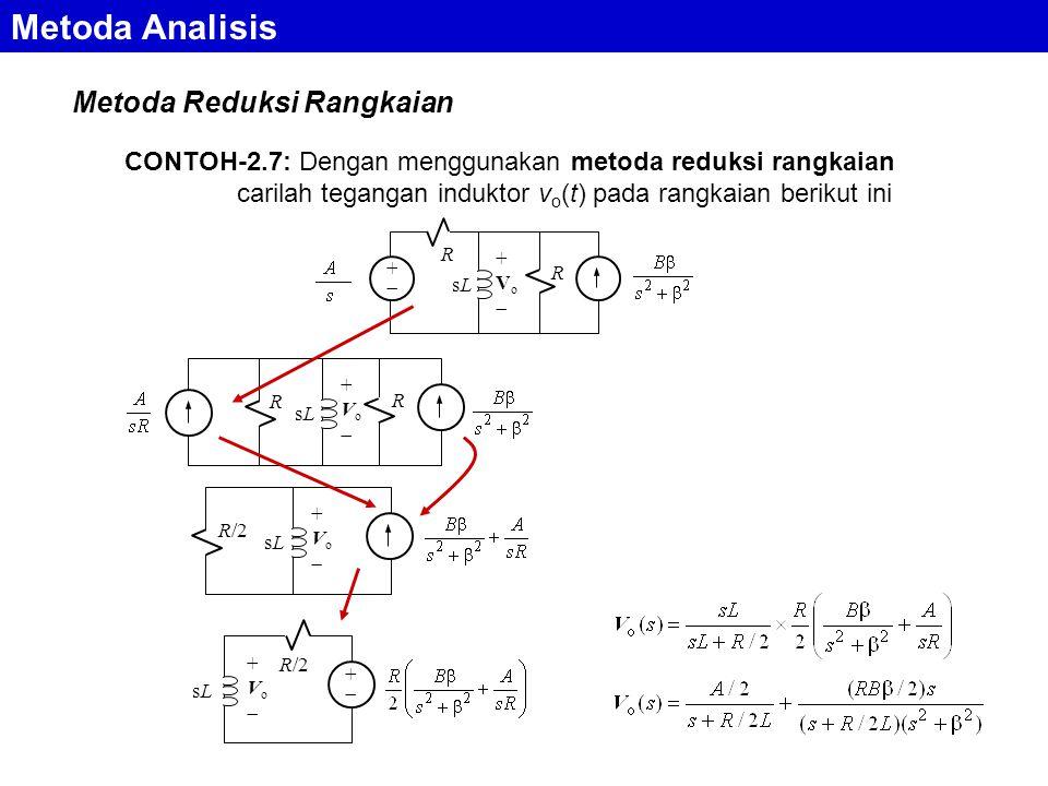 Metoda Analisis Metoda Reduksi Rangkaian