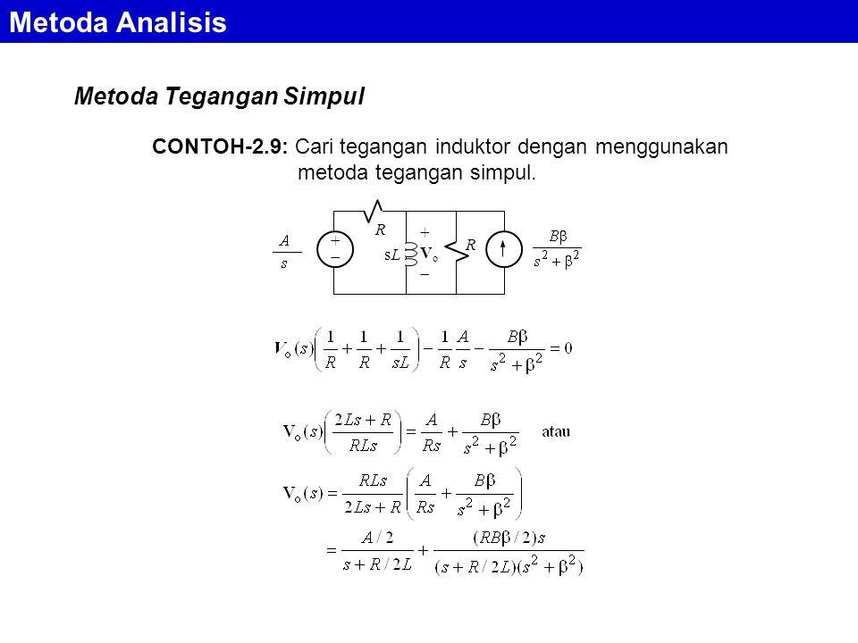 Metoda Analisis Metoda Tegangan Simpul