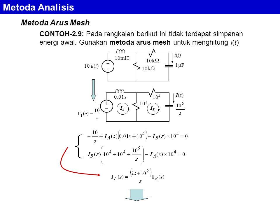 Metoda Analisis Metoda Arus Mesh