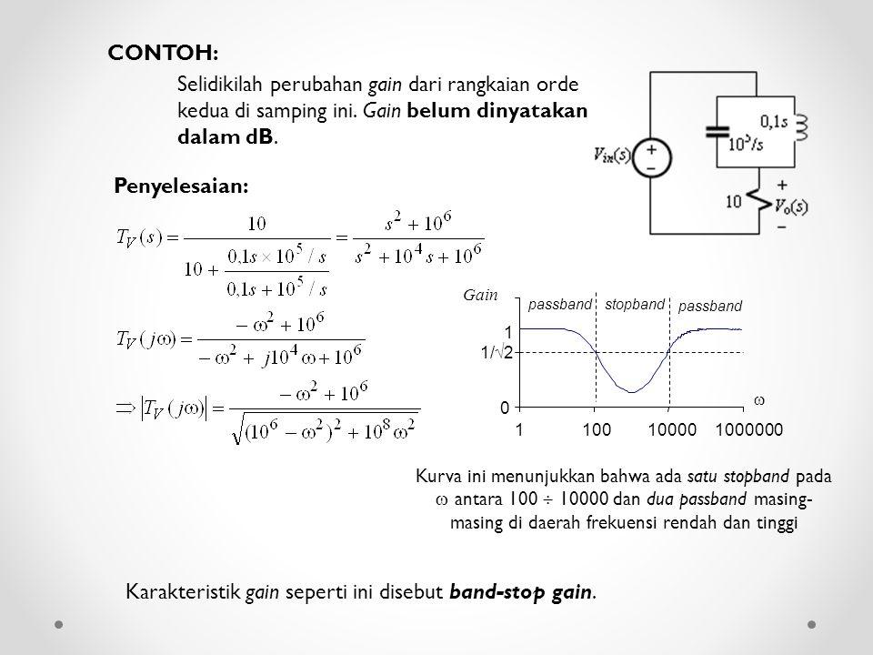 Karakteristik gain seperti ini disebut band-stop gain.