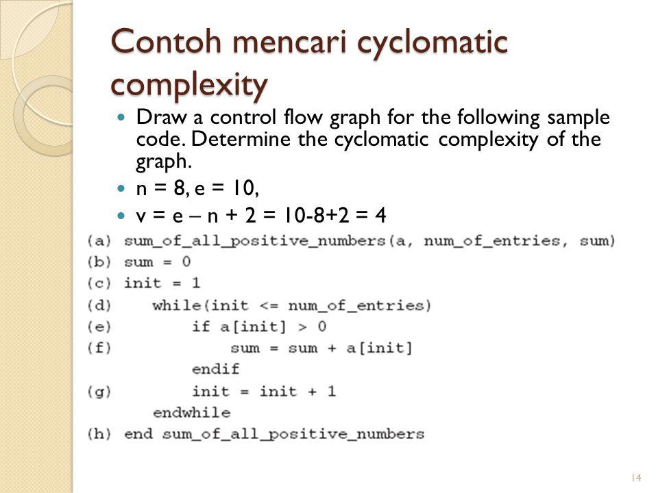 Contoh mencari cyclomatic complexity
