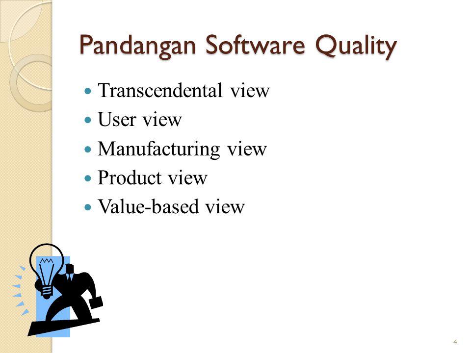 Pandangan Software Quality