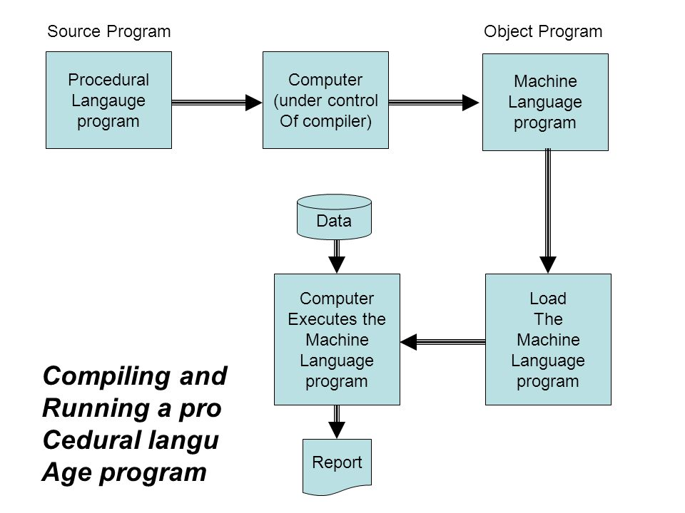 Compiling and Running a pro Cedural langu Age program Source Program