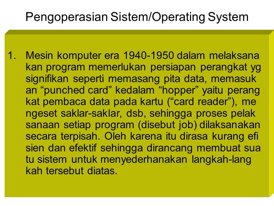 Pengoperasian Sistem/Operating System