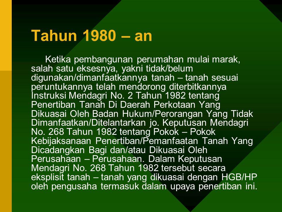 Tahun 1980 – an
