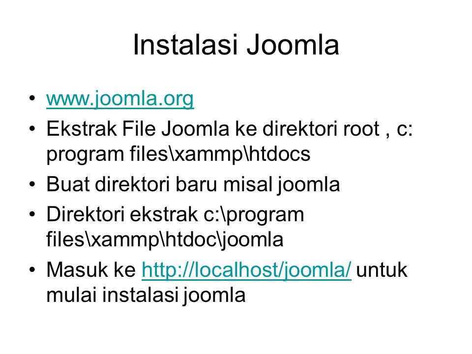 Instalasi Joomla www.joomla.org