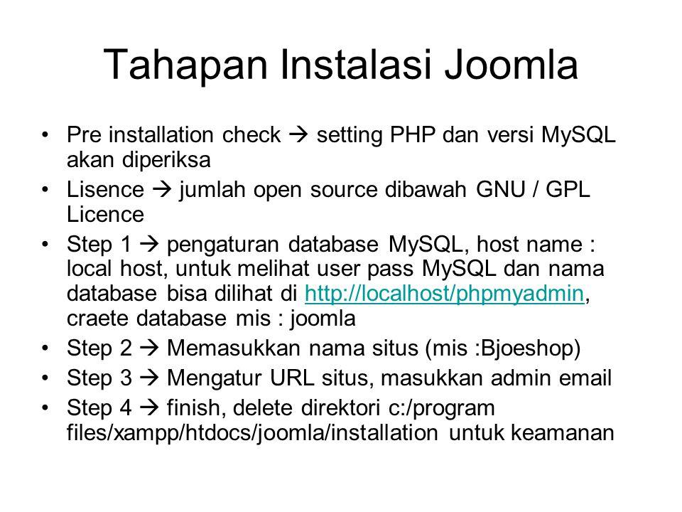 Tahapan Instalasi Joomla