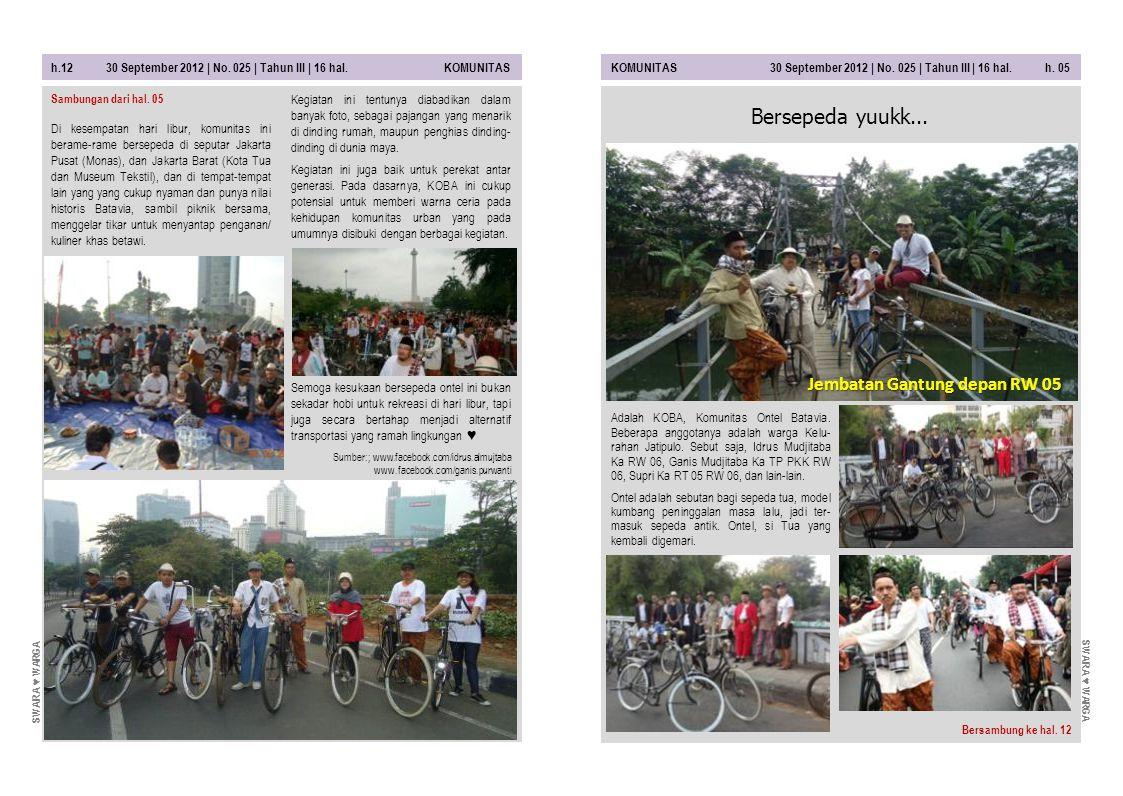 Bersepeda yuukk... Jembatan Gantung depan RW 05