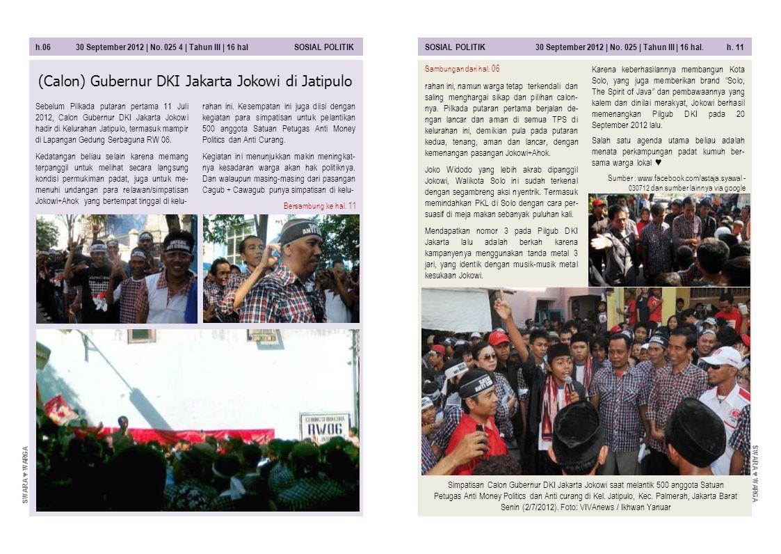 (Calon) Gubernur DKI Jakarta Jokowi di Jatipulo