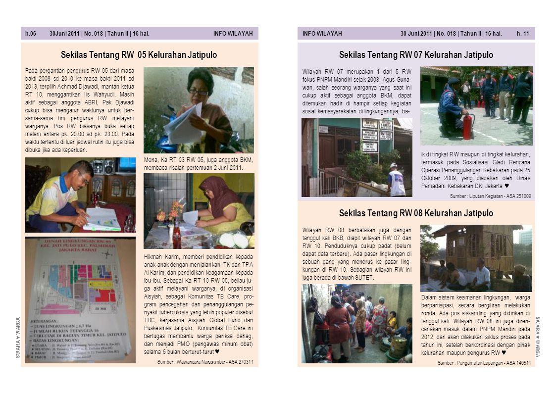 Sekilas Tentang RW 05 Kelurahan Jatipulo