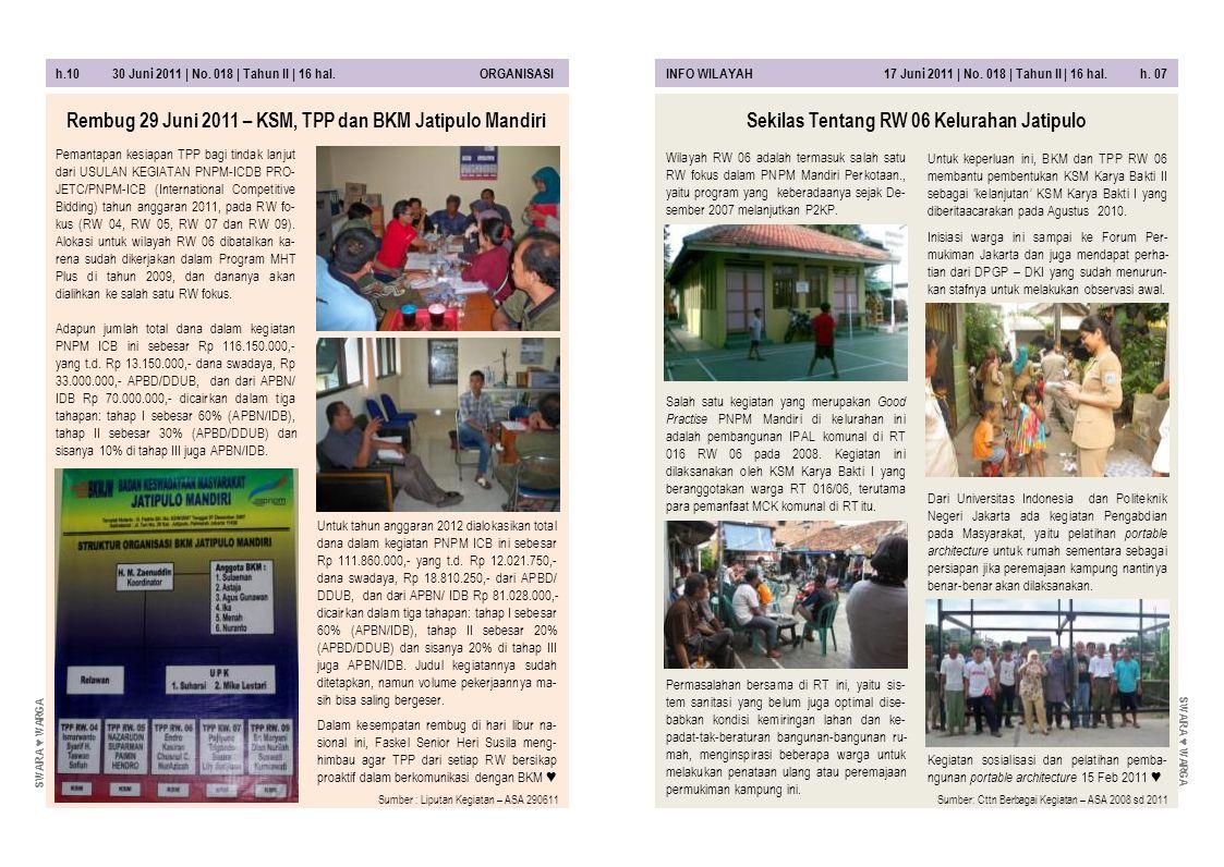 Rembug 29 Juni 2011 – KSM, TPP dan BKM Jatipulo Mandiri