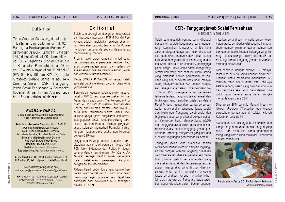 CSR - Tanggungjawab Sosial Perusahaan