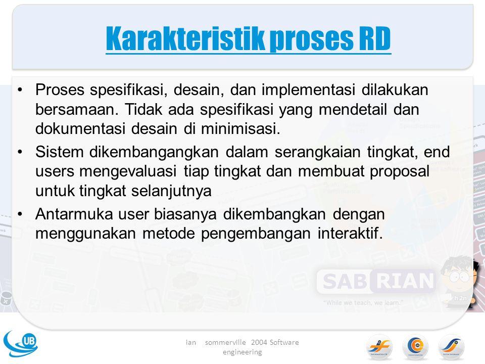 Karakteristik proses RD