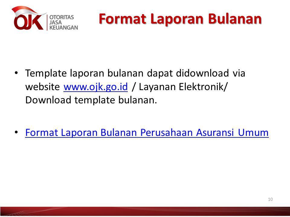 Format Laporan Bulanan