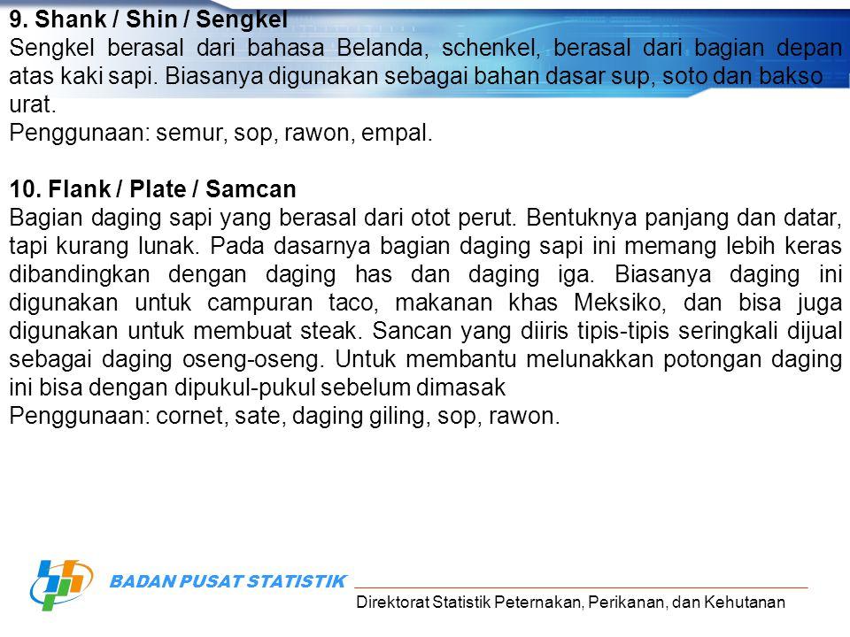 9. Shank / Shin / Sengkel
