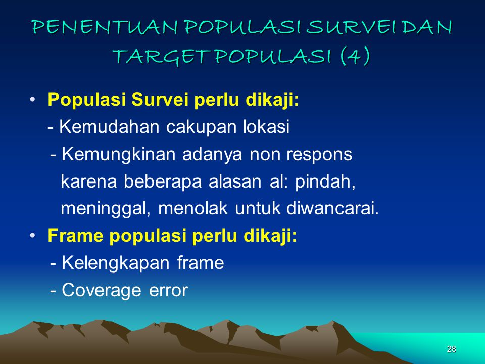 PENENTUAN POPULASI SURVEI DAN TARGET POPULASI (4)