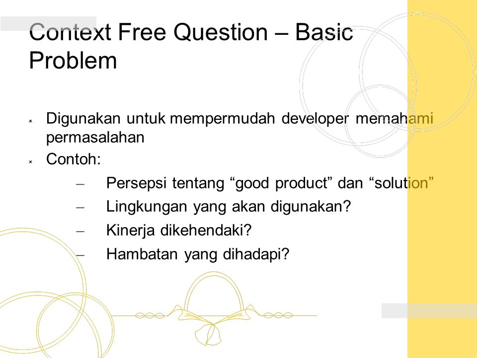 Context Free Question – Basic Problem