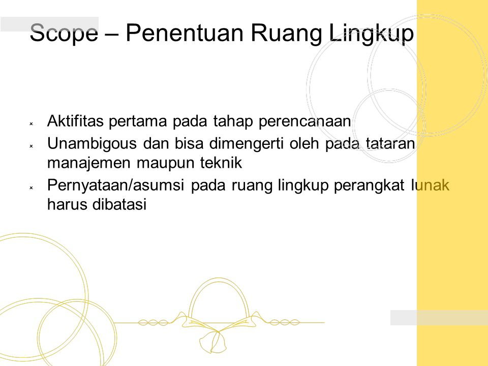Scope – Penentuan Ruang Lingkup