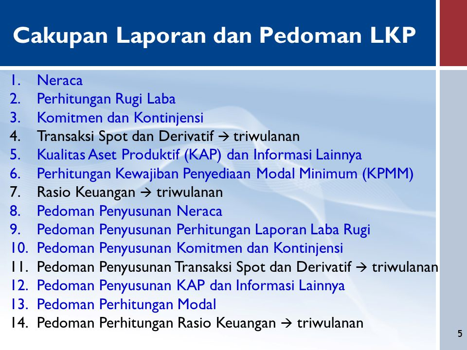 Cakupan Laporan dan Pedoman LKP