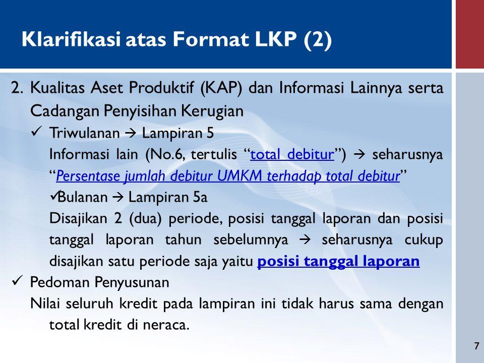 Klarifikasi atas Format LKP (2)