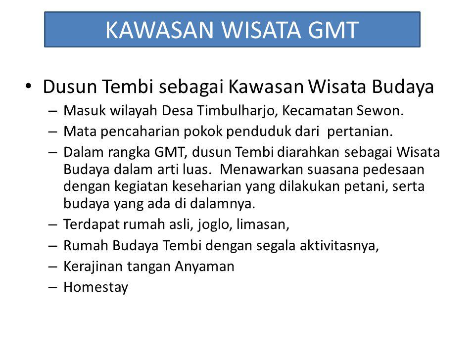 KAWASAN WISATA GMT Dusun Tembi sebagai Kawasan Wisata Budaya