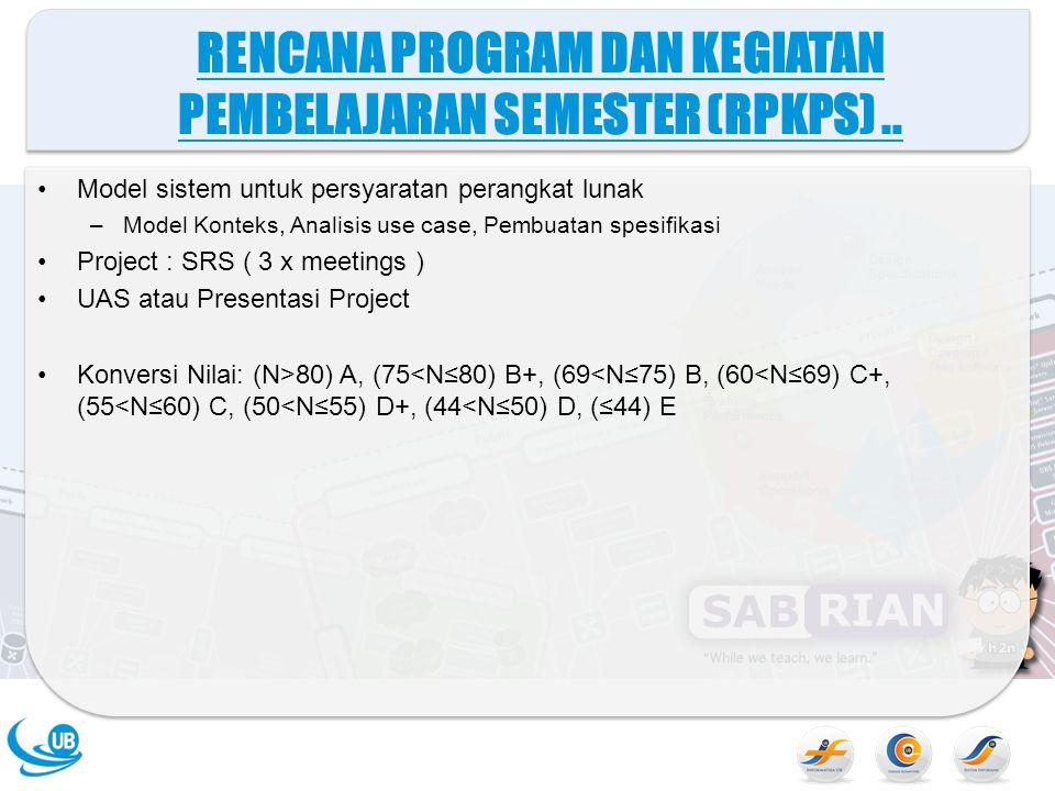 RENCANA PROGRAM DAN KEGIATAN PEMBELAJARAN SEMESTER (RPKPS) ..