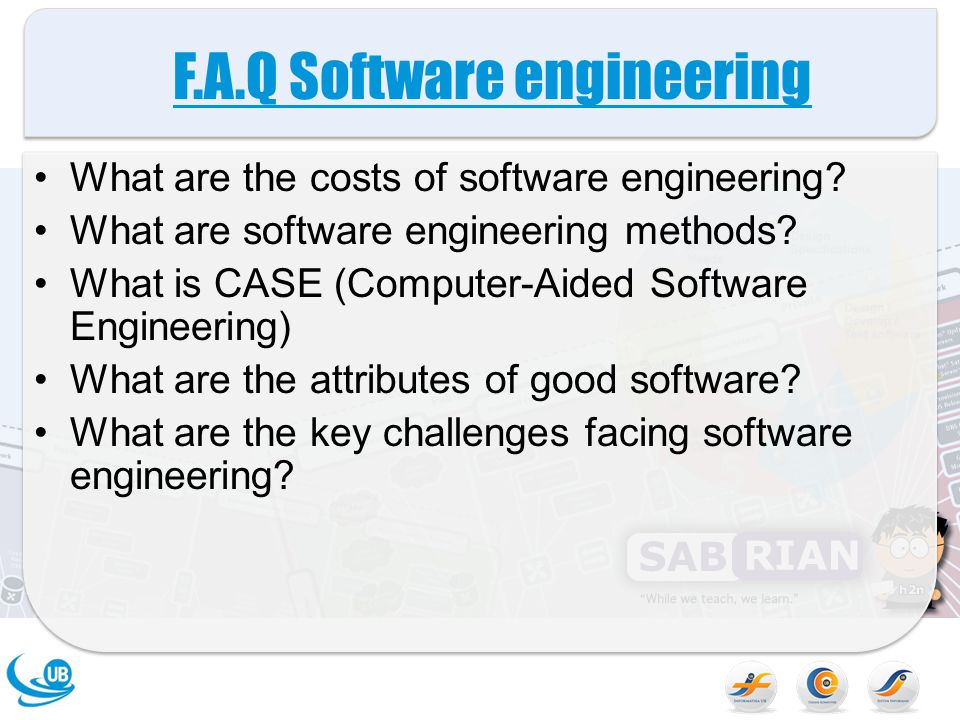 F.A.Q Software engineering