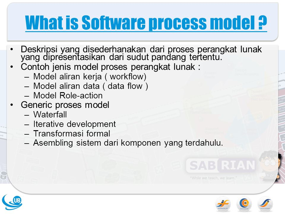 What is Software process model