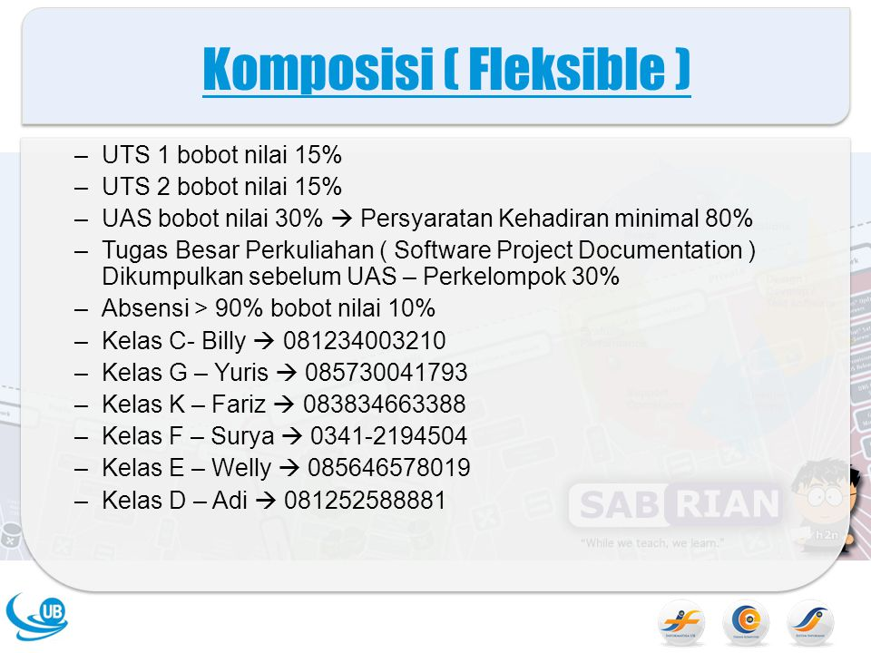 Komposisi ( Fleksible )