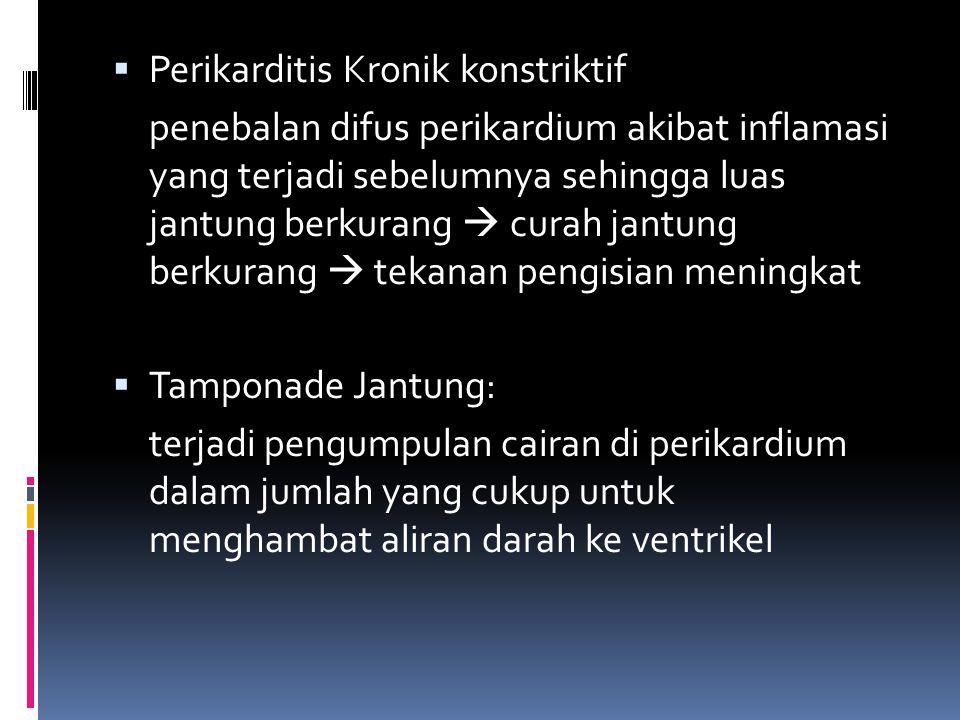 Perikarditis Kronik konstriktif