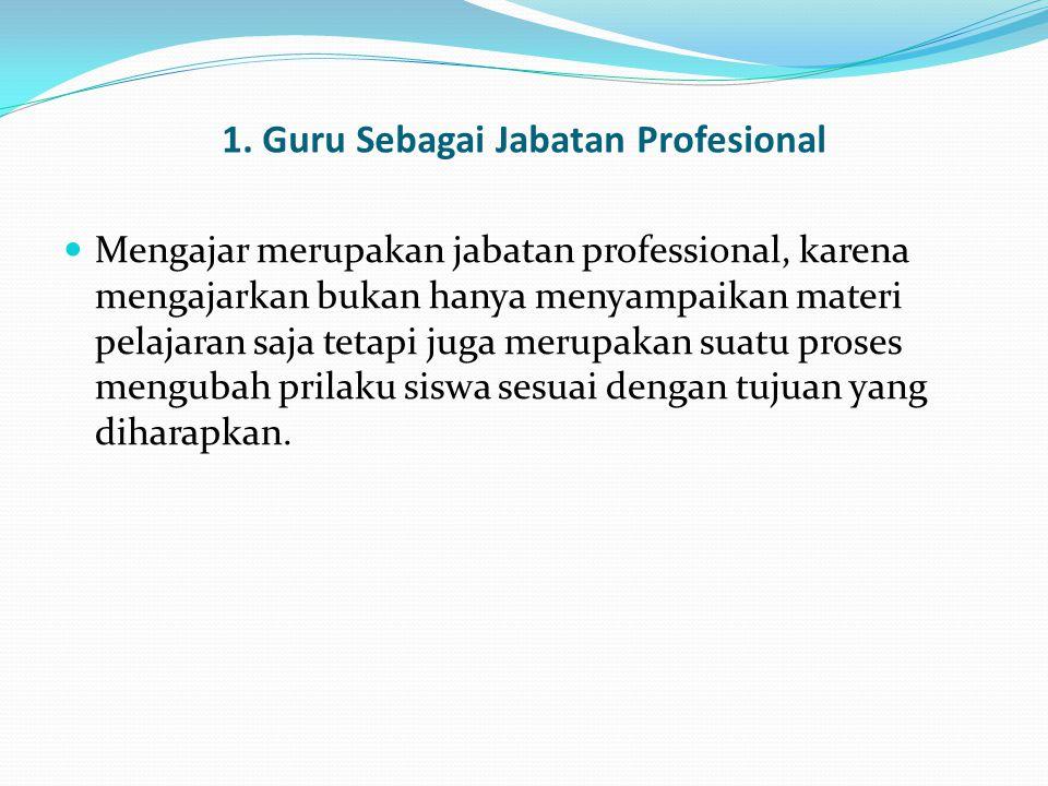 1. Guru Sebagai Jabatan Profesional