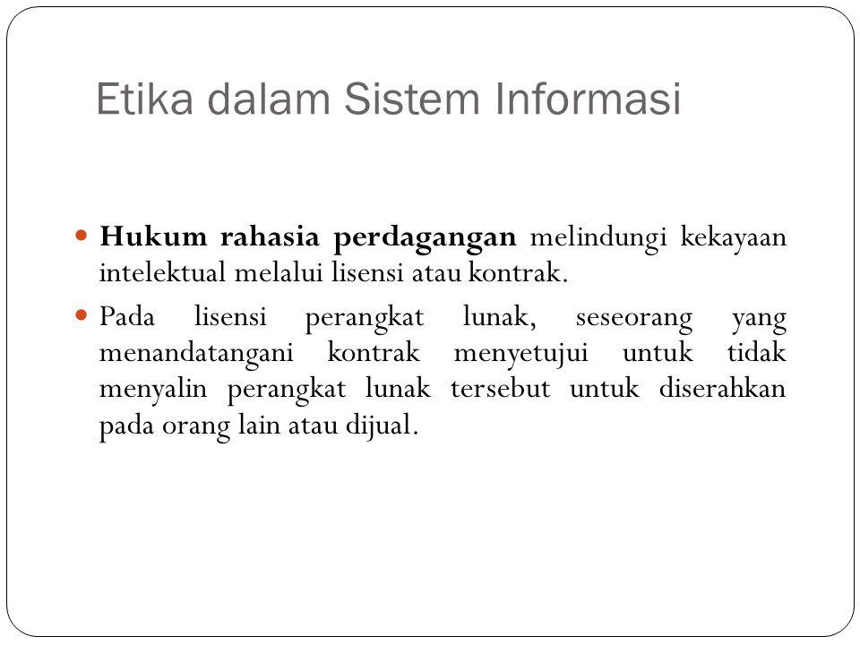 Etika dalam Sistem Informasi