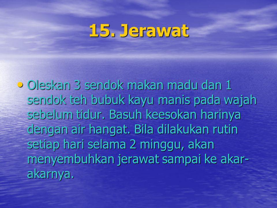 15. Jerawat