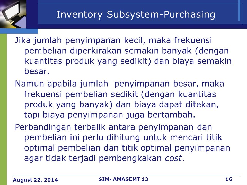 Inventory Subsystem-Purchasing