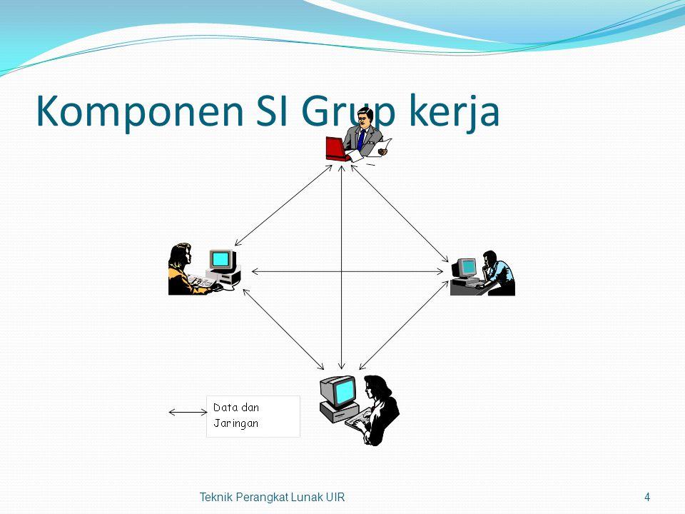 Komponen SI Grup kerja Teknik Perangkat Lunak UIR